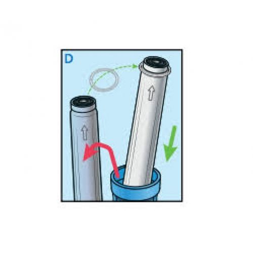 TAKAGI ANTI-SCALE REPLACEMENT FILTER PP-AS20R