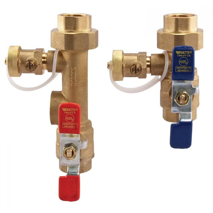 Watts Tankless Water Service Valve  LFTWH-FT-HCN-RV 3/4 In  (Threaded)  Relief Valve Included