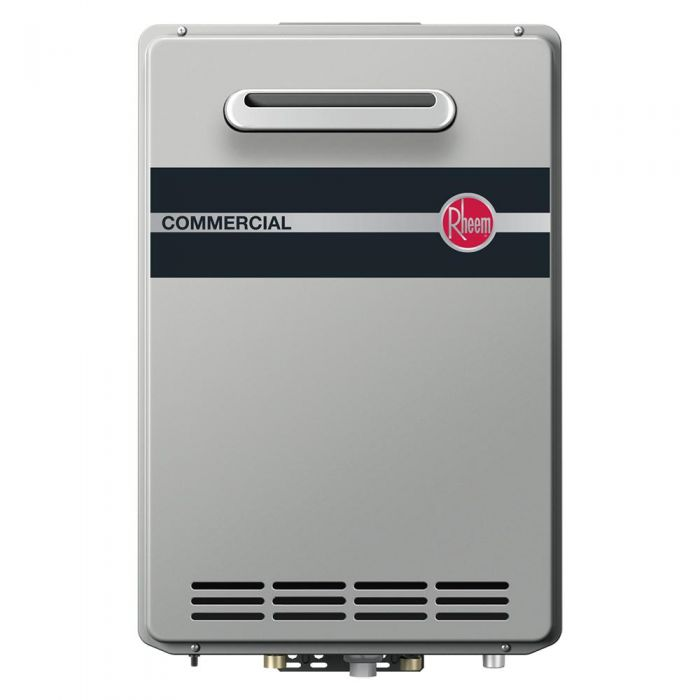 Rheem RTGH-CM95XLN Outdoor Natural Gas Condensing Tankless Water Heater w/ Built-In Manifold