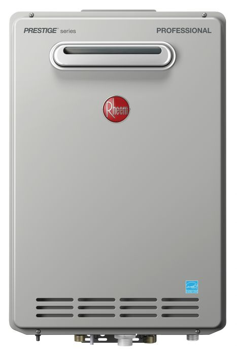 Rheem RTGH-84XLN-2 HE Natural Gas Condensing Tankless Water Heater (Outdoor)
